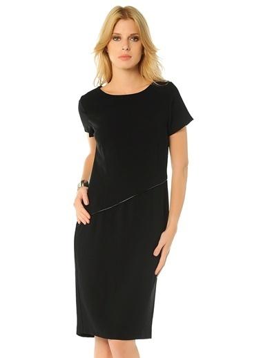 Limon Company Kısa Kollu Düz Elbise Siyah
